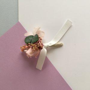 Boutonnière en fleurs Ignace