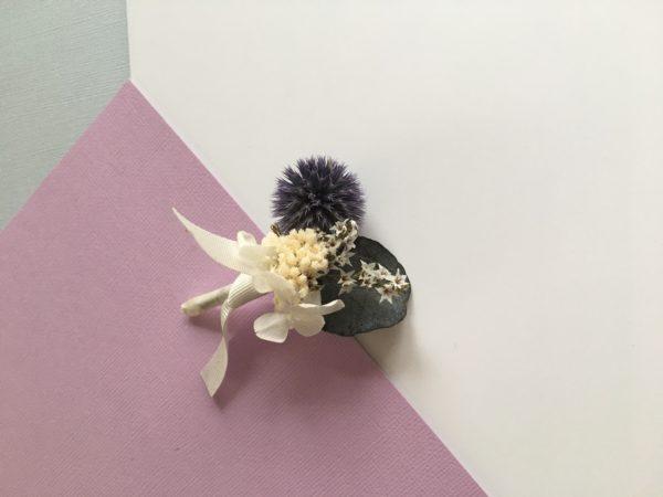 Boutonnière en fleurs Théodore