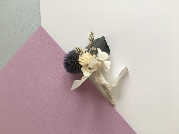 Boutonnière en fleurs Théodore - Mariage champêtre