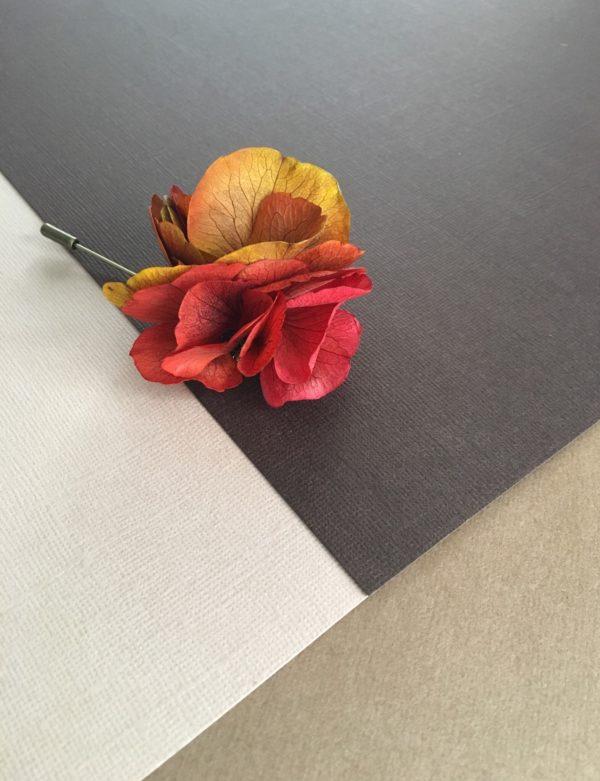 Boutonnière Oeillet Tropez - Fleur stabilisée naturelle
